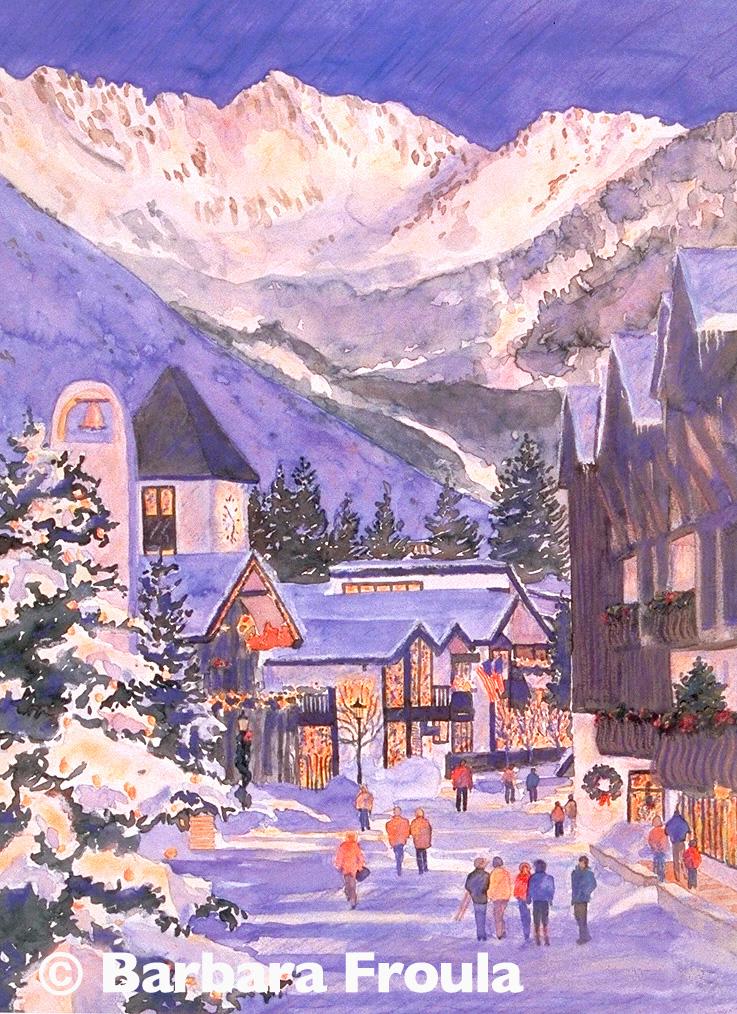 Winter Vail Twilight Mount N Frame
