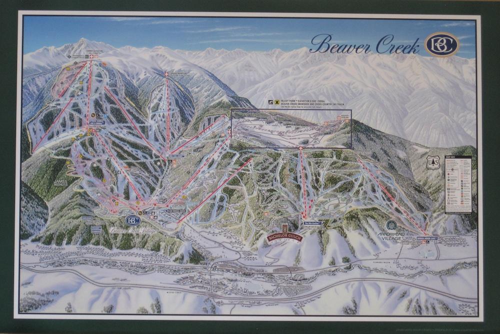 Beaver Creek Trail Map Poster MountNFrame - Beaver creek ski trail map