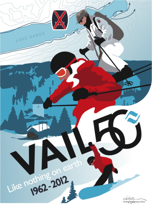 50th Anniversary Vail Poster at MountNFrame