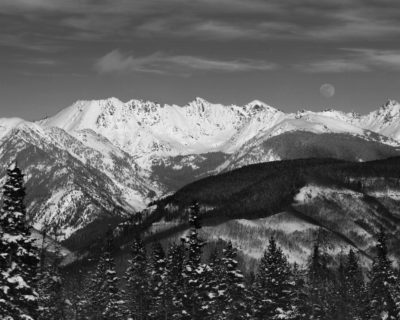 Full Moon over Gore Range