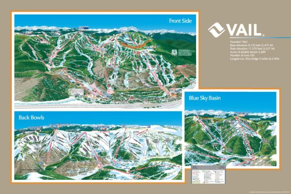 2013 Vail Trail Map
